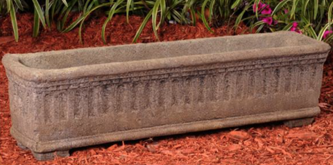 Cast Stone Ancient Greek Trough