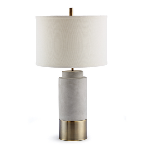 Scully Concrete & Brass Cylinder Lamp
