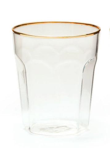 Gold Rimmed DOF Bar Glass
