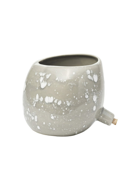 Spouted Plant Pot - Grey Crystal