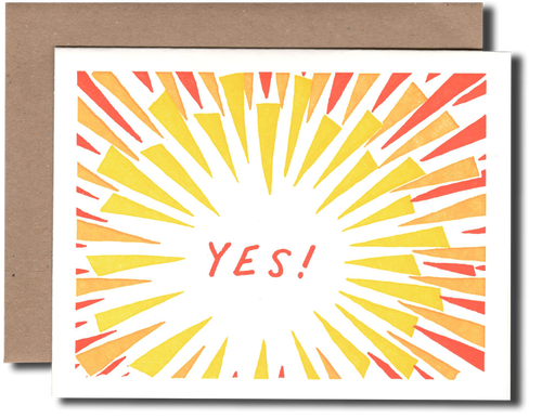 Yes! greeting card