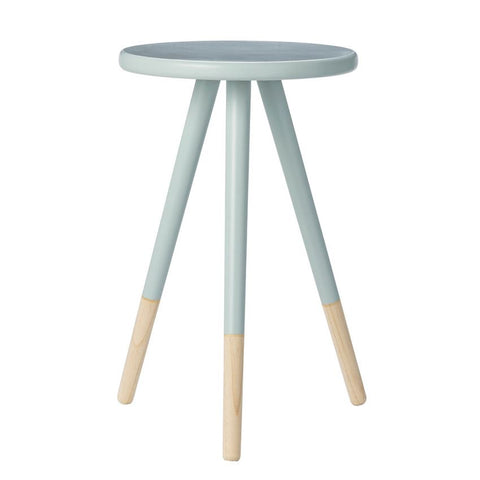 Sky Blue & Natural Wooden Side Table