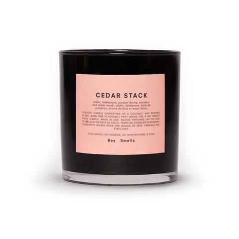 Cedar Stack Votive Candle by Boy Smells