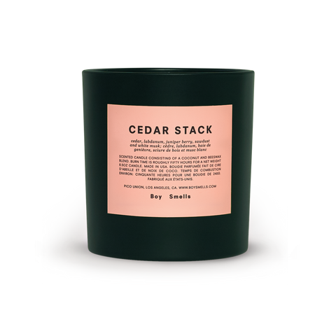 Cedar Stack Holiday Candle by Boy Smells
