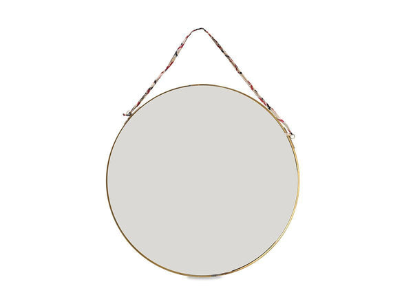 Kiko Round Brass Mirror- Large