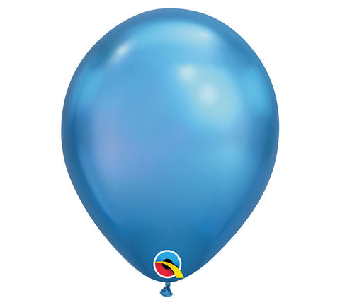 "11"" Chrome Blue Balloon"