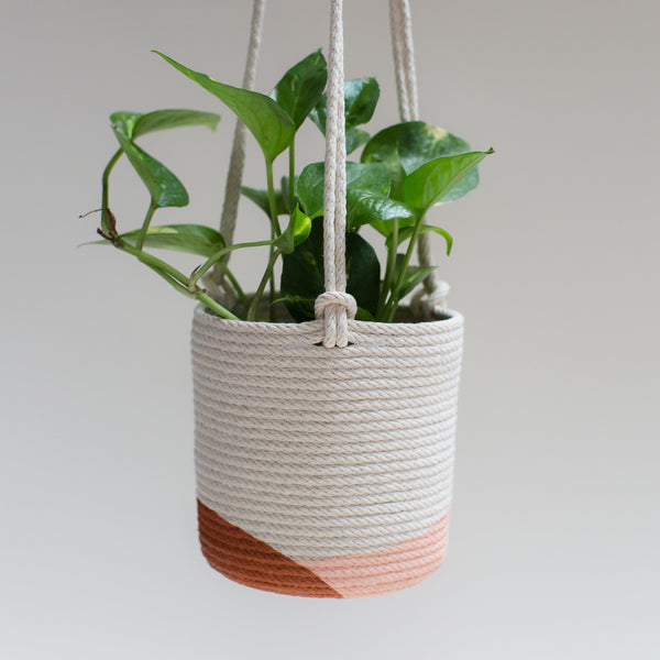 Closed Mondays Stitched Hanging Planter- Large