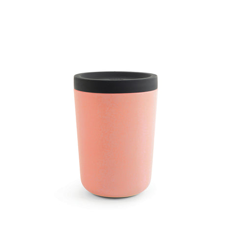 Reusable Bamboo Fiber Coffee Cup in Persimmon