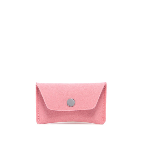 Graf Lantz Wool Felt Card Case- Rock Salt