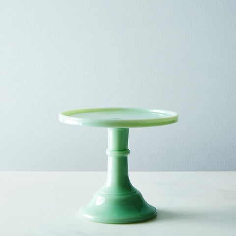 Jadeite Cake Stand Mosser Milk Glass 6 inches