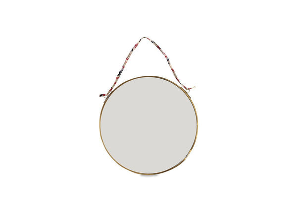 Kiko Round Brass Mirror- Small