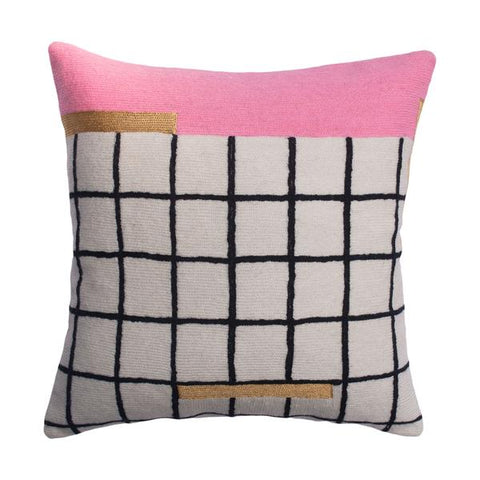 Leah Singh Whitney Grid Pillow