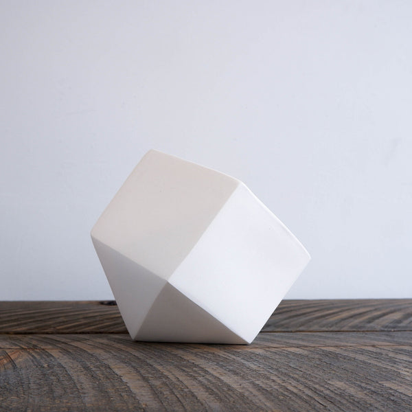 Linea Tabletop Faceted Planter