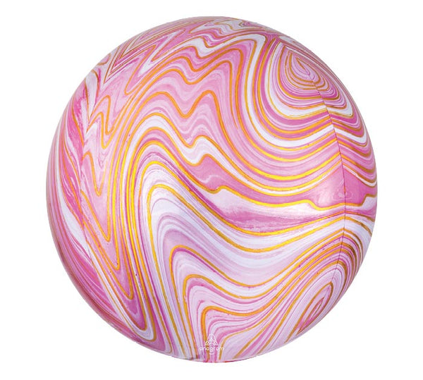 "16"" Pink/Gold Marble Metallic"