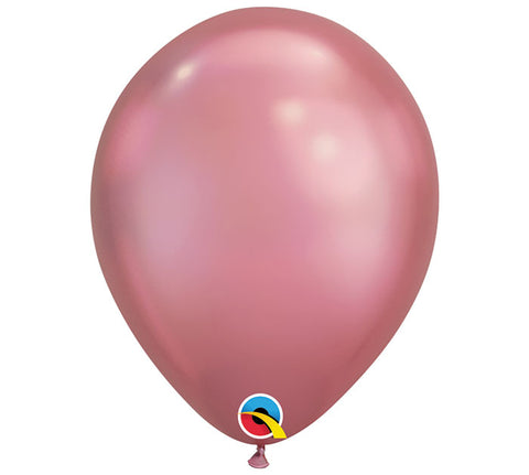 "11"" Chrome Mauve Balloon"