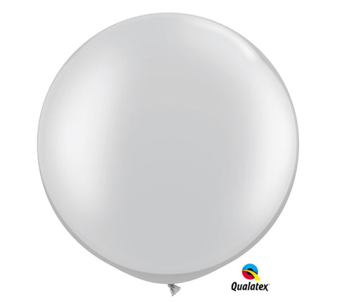 "30"" Metallic Silver Balloon"