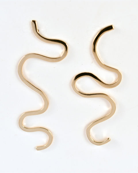 Gold Doodle Earrings by RA HA Jewelry