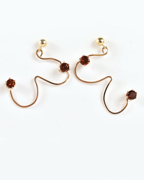 Gold Tata Earrings by RA HA Jewelry