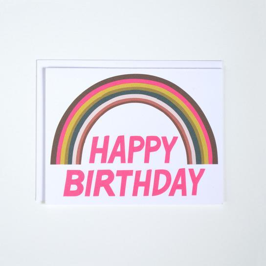 Rainbow Font Birthday