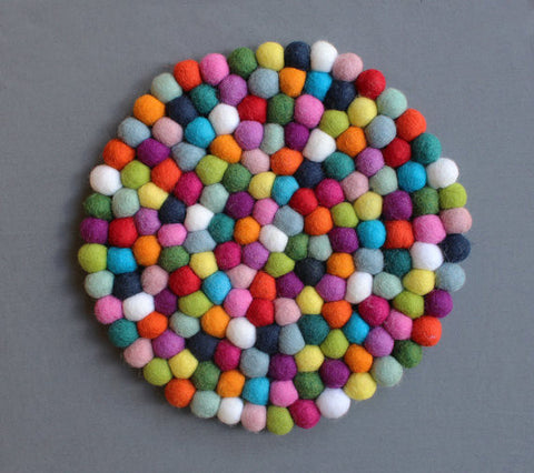 Felt Ball Wool Trivet (more options)