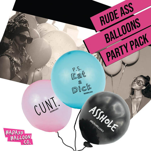 Rude-Ass Balloon Party Pack