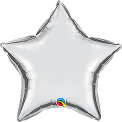 "36"" Silver Star Balloon"