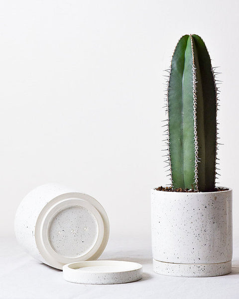 Totem Planter -White Speckle