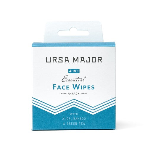 Ursa Major Essential Face Wipes- Pack of Five