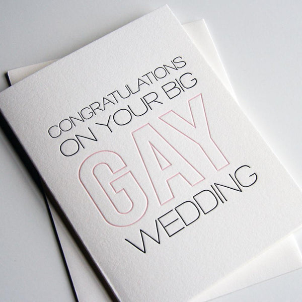 Big Gay Wedding  greeting card