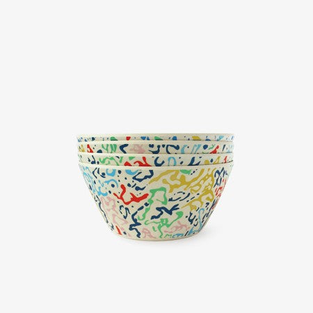 Bamboo Cereal Bowl - Car Wash (Set of 4)