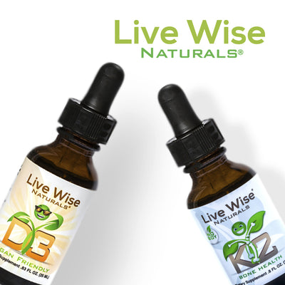 Vitamin D3 Drops and Soy Free K2 Drops Bundle - Vegan Friendly