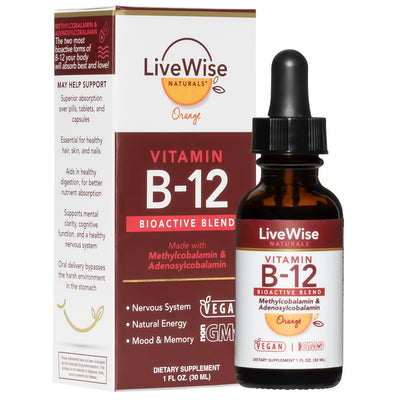 NEW! ORGANIC ORANGE B12 BIOACTIVE BLEND WITH A DELICIOUS NEW TASTE!