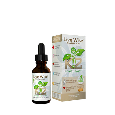 Vitamin K2 Liquid Drops - No Soy, Vegan Friendly
