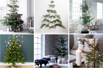 minimalist + modern christmas tree inspiration
