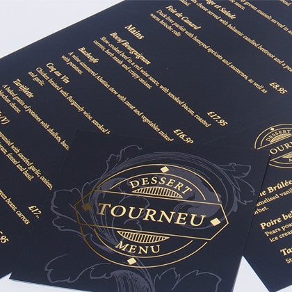 Gold Foiling Sleeking Menu