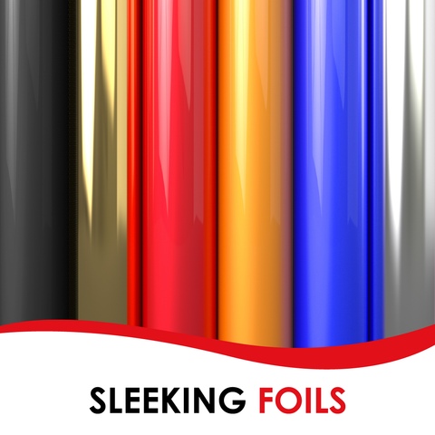 Heat-transfer toner Sleeking foils