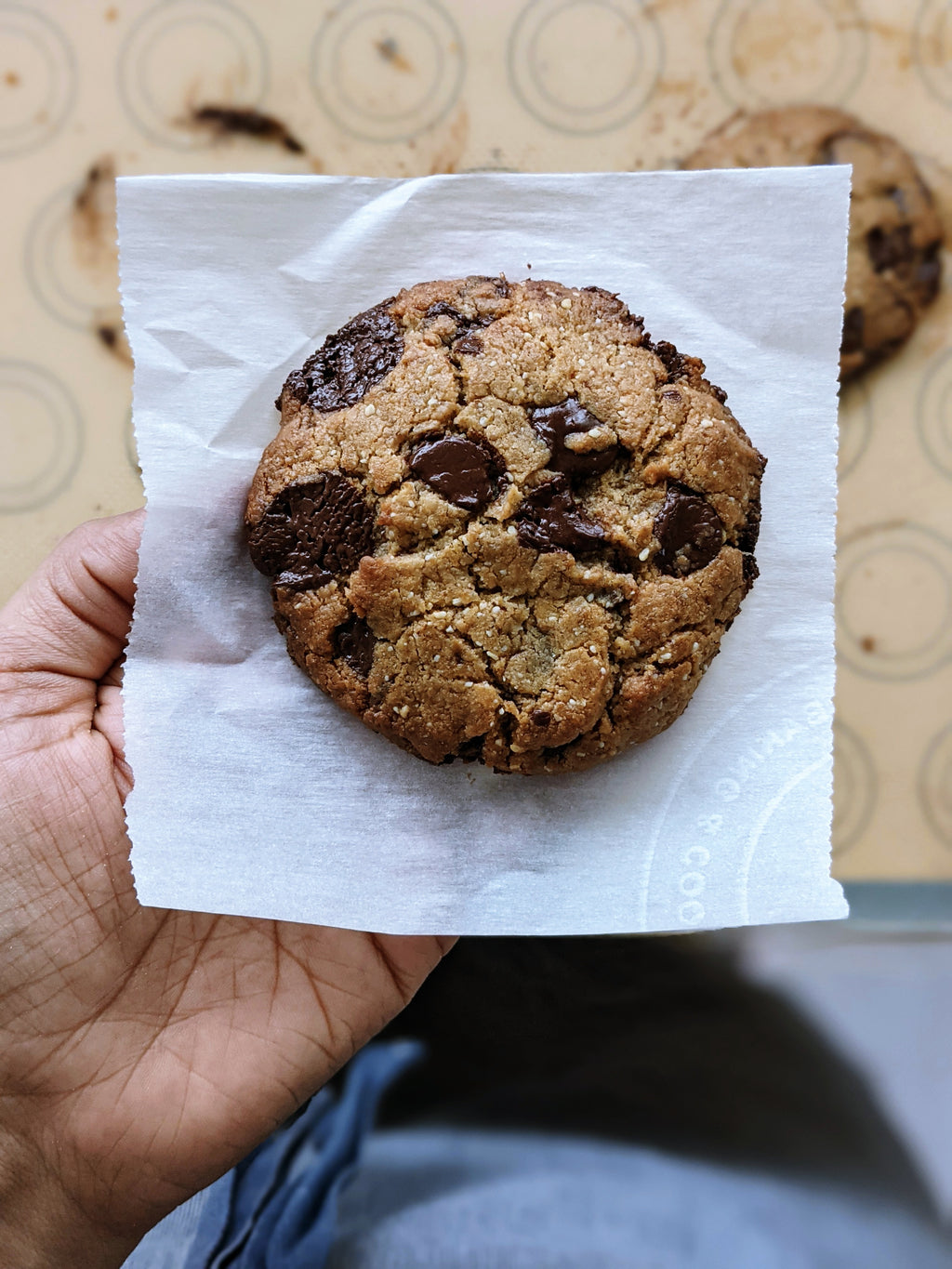 Belgian Chocolate Chip & Olive Oil Cookie (Vegan)