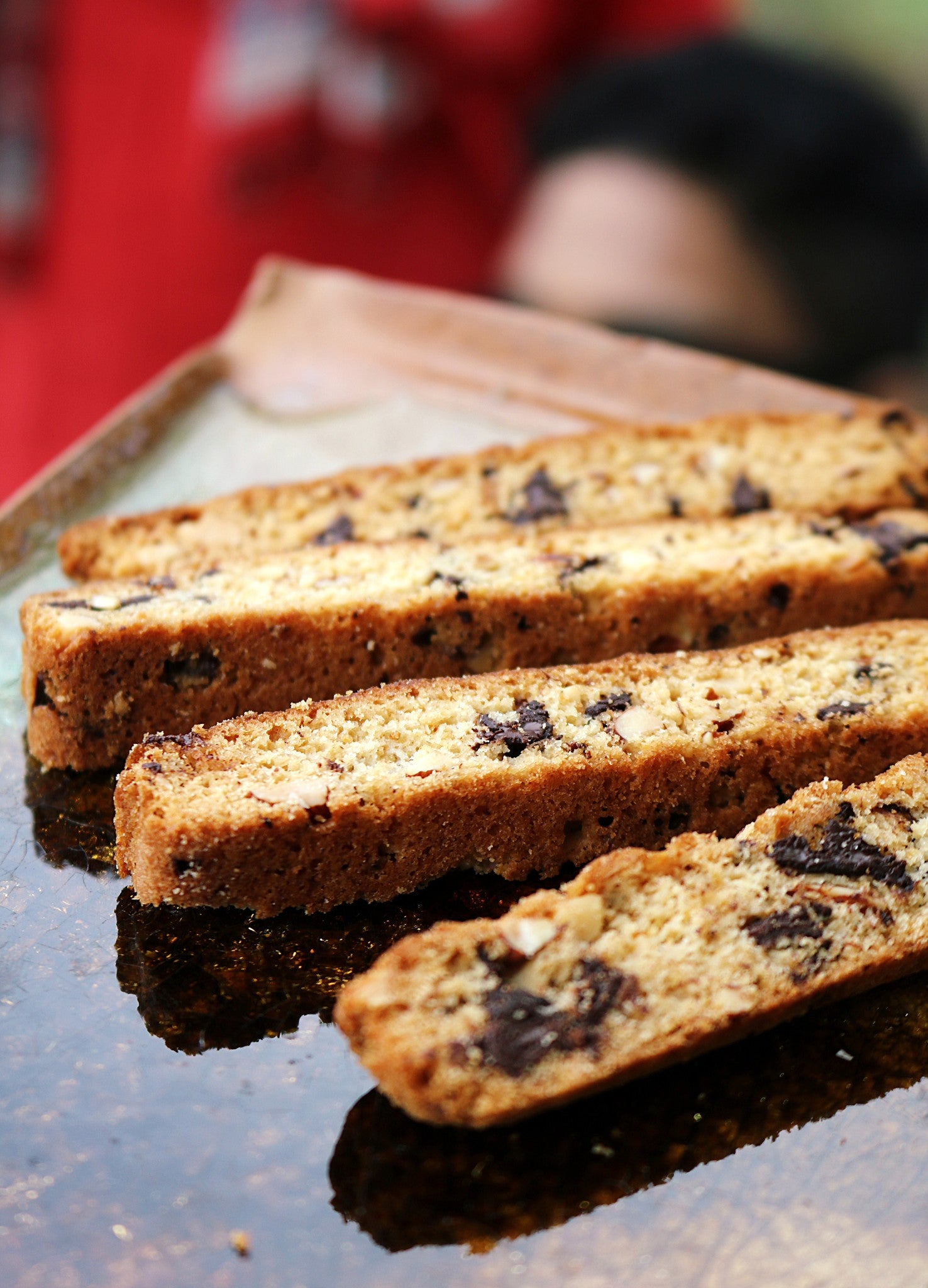 Almond & Dark Chocolate Biscotti