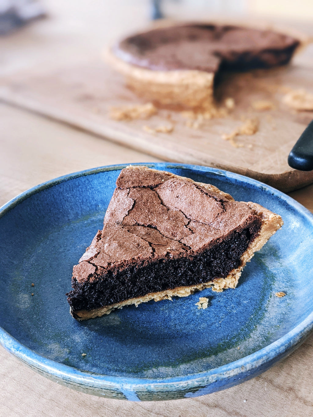 Baked Belgian Chocolate Pie