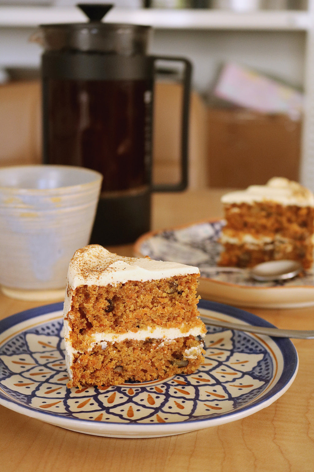 Carrot Walnut Cake with Cream cheese frosting