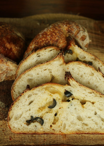 Cheese & Olive Sourdough Loaf