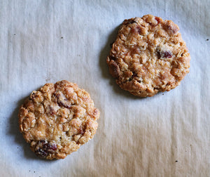 Belgian White Chocolate & Cranberry Oatmeal Cookie