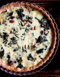 Mushroom, Peppers, Spinach & Cheese Quiche