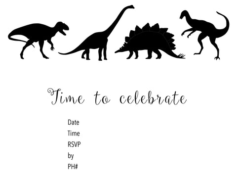 Free Dinosaur Party Invite download