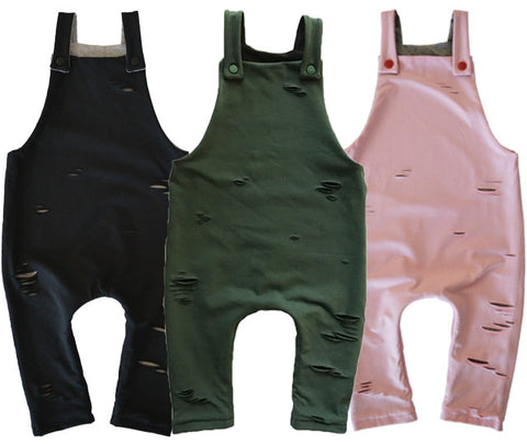 Reversible Distressed Overalls range