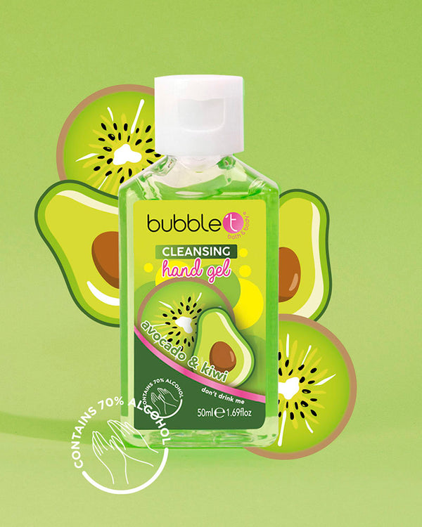 Avocado & Kiwi Anti-Bacterial Cleansing Hand Sanitiser (70% Alcohol)