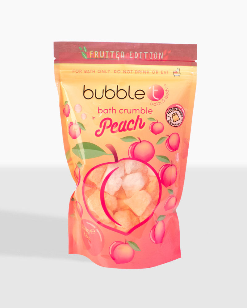 Fruitea Peach Bath Bomb Crumble (250g)