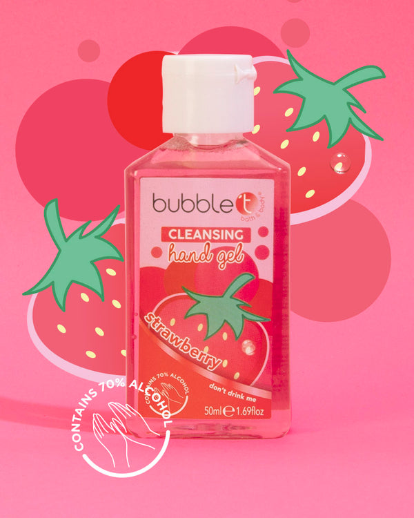 Strawberry Anti-Bacterial Cleansing Hand Sanitiser (70% Alcohol)
