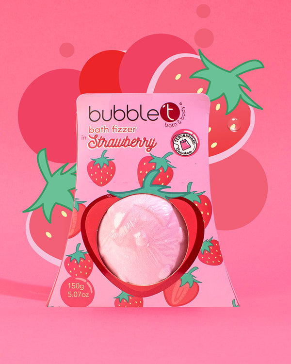 Strawberry Bath Bomb Fizzer - Fruitea Edition (150g)