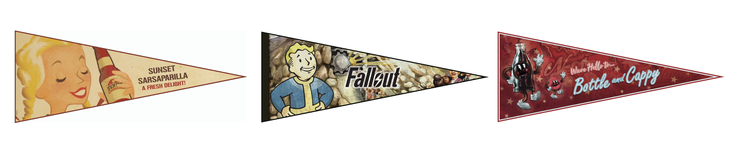Fallout pennant flags